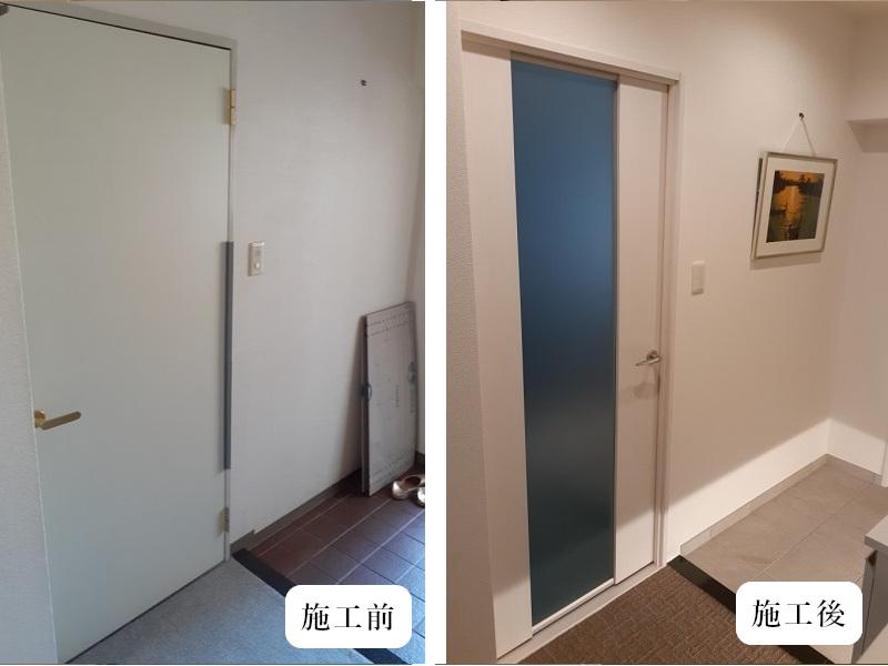 宝塚市 内装リフォーム|明るくカッコいい玄関空間イメージ06