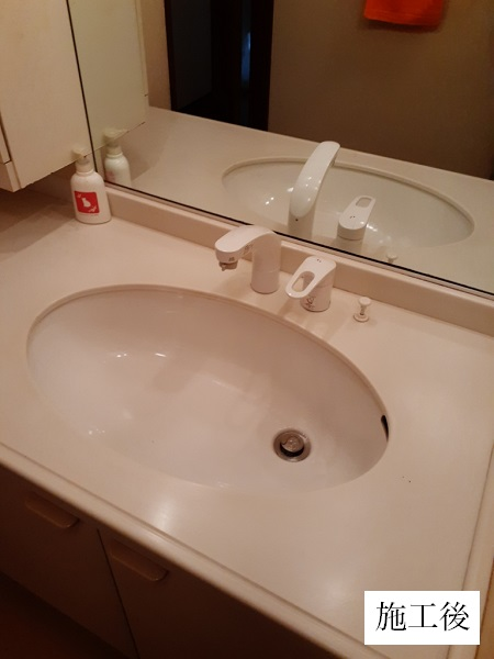 西宮市 水回り改修工事|トイレ取替・手摺設置・洗面所水栓取替イメージ03