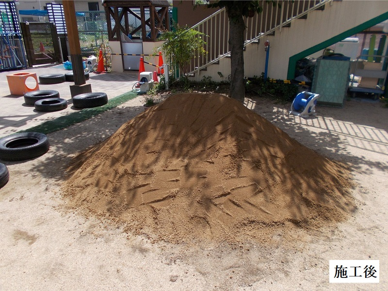 宝塚市 保育園 築山・砂場整備イメージ01